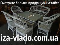 Набор плетеной мебели «Простый белый 6»