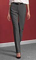 Женские классические брюки со стрелками серого цвета. Модель Dominga Zaps.