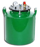 Зеленый газовый автоклав средний (на барашках) на 24 банок по 0,5 л/на 16 банок по 1 л di