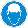 Наклейка: Работать в защитной каске (шлеме) 150х150