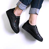 Кроссовки кеды женские Italiano черные, женская обувь