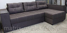 Угловой диван Престиж б-3  с мини баром и нишей на еврокнижке
