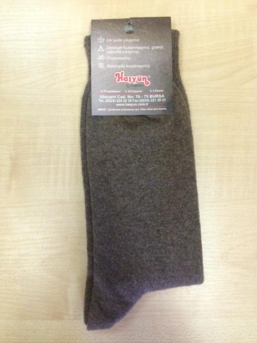Носки шерстяные коричневые размер 40-43