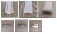 Профиль для светодиодной ленты врезной 1м комплект