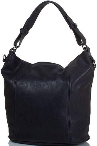 Практичная женская сумка из искусственной кожи ANNA&LI (АННА И ЛИ) TU14164-black (черный)