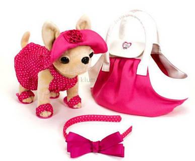 Собачка в сумочке Кикки Маленькая модница розовая