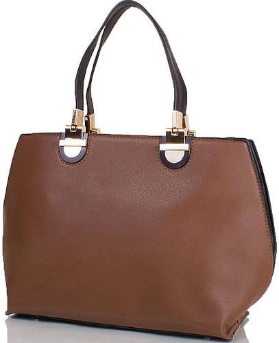 Женская сумка из качественной искусственной кожи ANNA&LI (АННА И ЛИ) TU14152-black (коричневый)