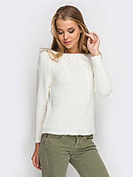 Женский модный вязаный белый свитер p.48-50