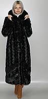 Шуба с капюшоном,черная норка 44-46,48-50,52-54,56-58, фото 1