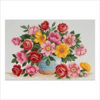 """Набор для вышивки крестом """"Разноцветье весны"""""""