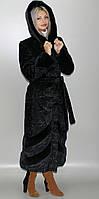Эко Шуба с капюшоном,каракуль 42-44,46-48,50-52