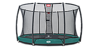 Батут Berg Elite+ Tatoo 430 cm Green с защитной сеткой T-series