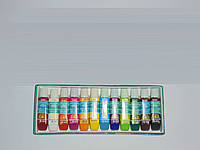 Акриловые краски Global Fashion 12 цветов(6 мл), краски, набор акриловых красок