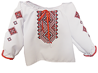 Вышиванка для девочки белого цвета с вышивкой