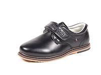 Школьные туфли детские на мальчика, Apawwa, эко-кожа, стелька кожа ортопедическая, размеры 26-28