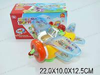 """Муз. игрушка """"Самолет"""", батар., свет, звук, 4 вида, в кор. 22х10х12 /72-2/(HJ118A/B/F/M)"""