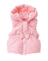 Детский жилет с капюшоном для девочки. 12-24 месяца