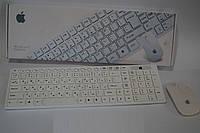 Беспроводная Клавиатура+мыш Apple, компьютерная гарнитура Apple, комплект клавиатура+мышь, аксессуары для ПК
