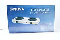 Электрическая плита 2 диска NOVA 2500w, туристическая плита, электро, плита НОВА, 2 конфорки