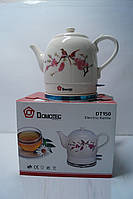 Дисковый керамический чайник Domotec DT 150, кухонная техника, товары для кухни, электрочайник