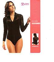Красивое женское боди-блузка с атласной полоской Sevim (mix series)