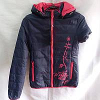 Куртка женская двухсторонняя на синтепоне S-2XLрр модная качественная купить оптом в Одессе 7км дешево