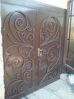 Ворота гаражные кованые арт.гв 2