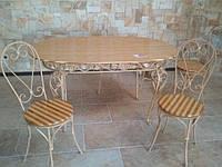 Кованый стол и стулья арт.м 10
