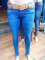 Джинсы женские с ремнем модные качественные купить оптом в Одессе не дорого