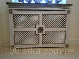 Екрани декоративні на батарею опалення, дерев'яні решітки РР01-ракушка
