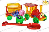Конструктор-поезд с песочным набором №1 3цв. /15/(13222)