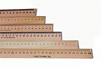 Линейка деревянная 15 см. Люкс-Колор ЛД15