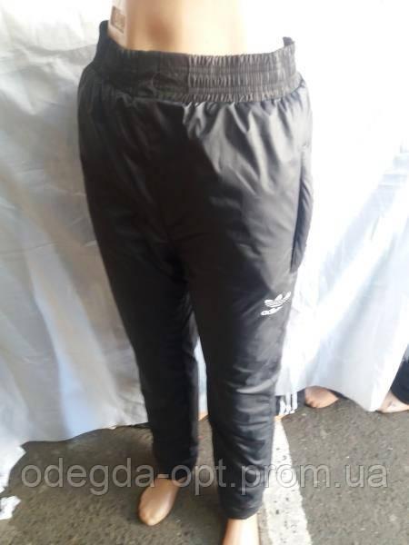 Женские спортивные штаны оптом ADIDAS Плащевка на синтепоне + флис в Одессе, фото 1