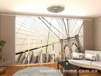 Панельная штора Серый Бруклинский мост комплект 8 шт