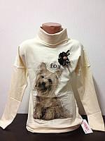 Детская одежда оптом Платье туника с начесом для девочек оптом р.116-122-128