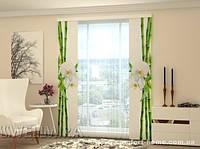 Панельная штора Бамбук и белая орхидея 2 шт. комплект