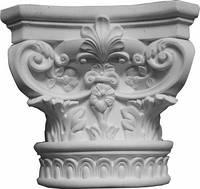 Капитель колонны - полуколонны. Интерьер, фасад лепнина