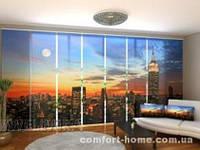 Панельная штора Восход солнца в Нью-Йорке комплект 8 шт