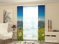 Панельная штора Альпы и ромашки 2 шт. комплект