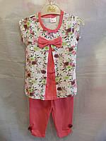 Летний костюм на девочку 2-5года Туника+ лосины ОПТОМ В ОДЕССЕ 7км