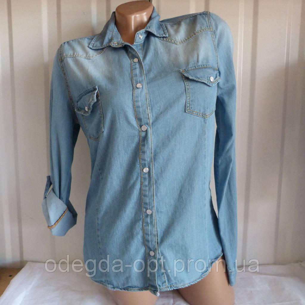 ef3794bfddb Джинсовая рубашка женская норма 44-48 качественная купить оптом в Одессе 7км