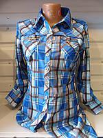 Рубашка женская осень (S-2XL) коттон купить оптом хорошее качество Одесса 7км
