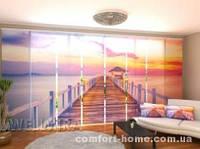 Панельная штора Восход солнца на море комплект 8 шт