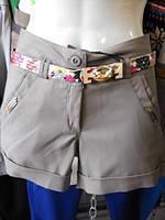 Шорты женские СТРЕЙЧКОТОН модные молодежные оптом в Одессе