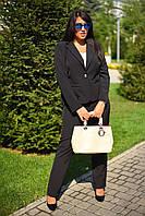 """Классический женский брючный костюм """"Classik"""" с жакетом (большие размеры)"""
