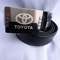 Ремень мужской автомат метал TOYOTA кожзам 35мм купить оптом в Одессе недорого модные 7км