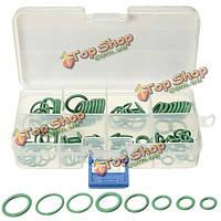 105шт 8 размер ГБНК зеленый автомобиль климатик уплотнительные кольца уплотнения уплотнительных прокладок ремонт Набор инструментов ящик