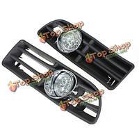 Автомобиль LED противотуманный фонарь решетка бампера с проводов для VW Jetta 99-04 бора mk4