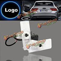 2 X лазерный логотип LED дверь призрак тень Добро пожаловать фонари для Audi