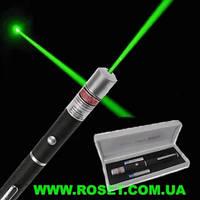 Лазерная зеленая указка Green Laser Pointer c 5 насадками